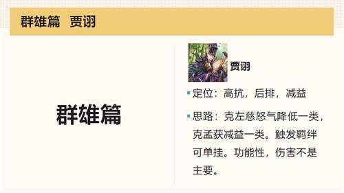 《三国志幻想大陆》群雄队角色介绍 群雄队角色图文介绍